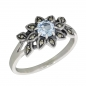 Preview: Esse Ring Silber Blautopas Markasiten