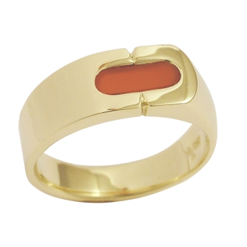 Herrenring 585 Gold Karneol