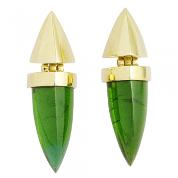 Earrings 14 kt. gold Tourmalines