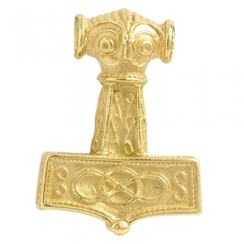 Pendant Hammer of Thor from East Gotland large solid gold 14 kt.