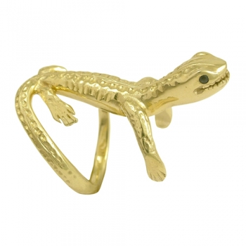 Ring Lizzard 14 kt. gold Sapphires