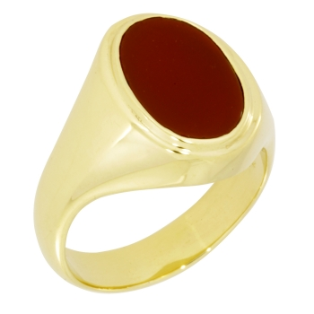 Herrenring 585 Gold Karneol oval