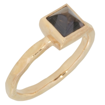 Ring 14 kt. red gold tourmaline lilac