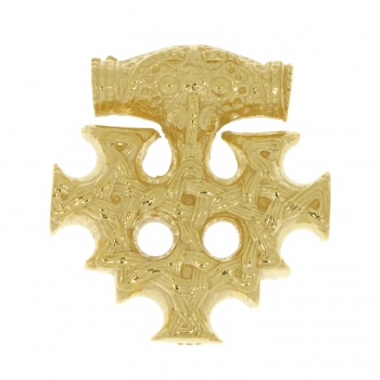 Pendant Cross of Hiddensee (medium size) solid gold 14 kt.