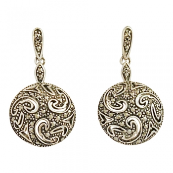 Earrings 925 Sterlingsilver marcasites