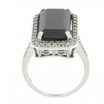 Esse Ring Silber Spinell Markasiten