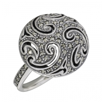 Ring 925 Silber Markasite