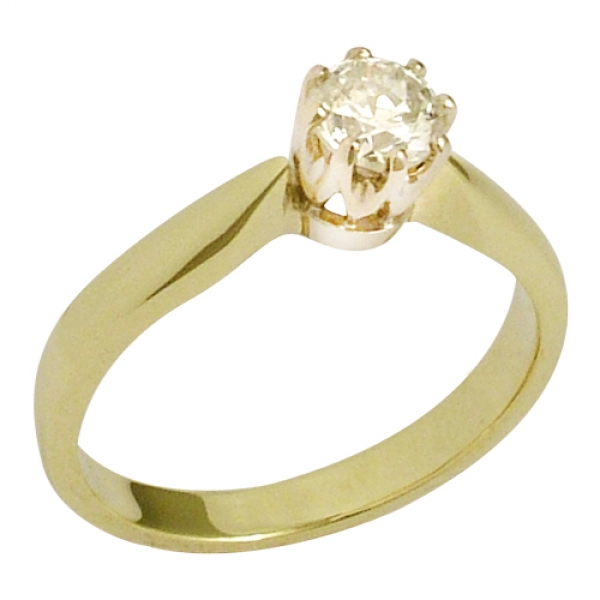 Solitärring 585 Gold Brillant 0,56 ct. H-vsi