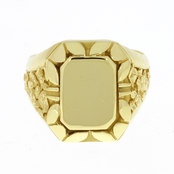 Herrenring massives Gold