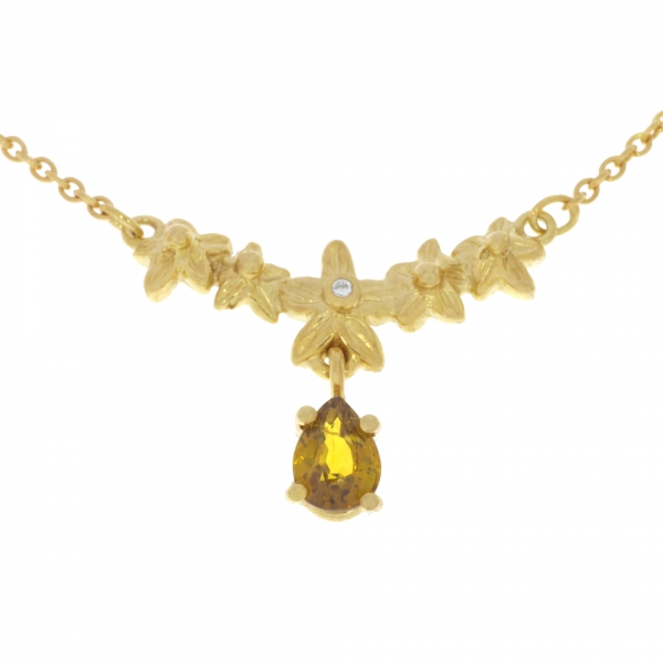 Collier 585 Grossular Brillant