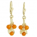 Earrings 14 kt. gold corals