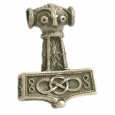 Pendant Hammer of Thor from East Gotland large Sterlingsilver antique