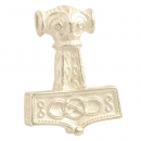 Pendant Hammer of Thor from East Gotland large Sterlingsilver