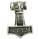Pendant Hammer of Thor from East Gotland small Sterlingsilver antique