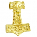 Pendant Hammer of Thor from East Gotland small solid 14 kt. yellow gold