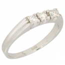 Ring 14 kt. white gold Diamonds 0.30 cts. H-si